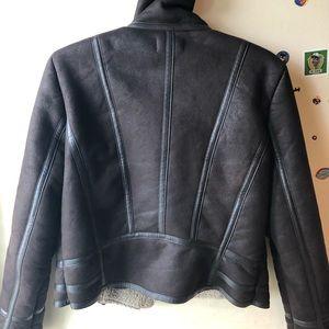 the bay Jackets & Coats - dark brown sherpa jacket
